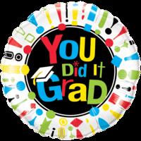 "18"" You Did It Grad!"