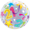 21st Birthday Bubble Balloons overview