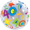 40th Birthday Bubble Balloons overview