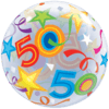 50th Birthday Bubble balloons overview