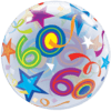 60th Birthday Bubble Balloons overview