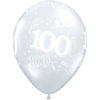 100th Birthday Latex balloons overview