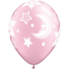 """11"""" Pearl Pink Baby Moon/Stars Latex Balloons product link"""