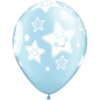 "11"" Pearl Light Blue Baby Moon/Stars Latex Ba product link"