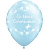 "11"" Pearl Light Blue Communion Butterflies La product link"