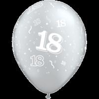 "11"" 18th Black & Silver x 25"