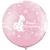 """30"""" Pearl Pink Christening Soft Pony Latex x  product link"""