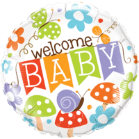 """18"""" Banner Welcome Baby"""