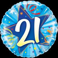 """18"""" Star 21st Balloon"""