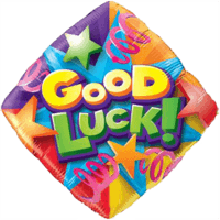 "18"" Good Luck Colourful Streamers Balloon"