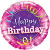 Happy Birthday Hot Pink Streamers  product link