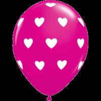 "11"" Pink Big Hearts x 25"