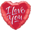 """18"""" I Love You Red Heart Balloon overview"""