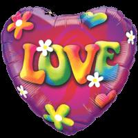 """18"""" Hippy Love Heart Balloon"""