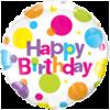 "18"" Birthday Big Polka Dots Foil Balloon x 1 product link"