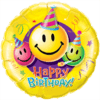 """36"""" Birthday Smiley Faces Foil Balloon product link"""