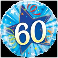 """18"""" Blue Star 60th Balloon"""