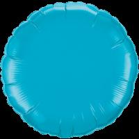 """18"""" Round Turquoise Foil Balloon"""