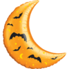 "35"" Crescent Moon Halloween Balloon overview"