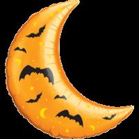 """35"""" Crescent Moon Halloween Balloon"""