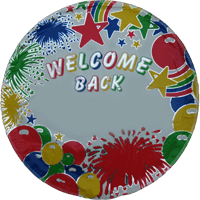 "18"" Welcome Back Personalised Balloon"