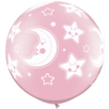 """30"""" Pearl Pink Baby Moon & Stars x 2 overview"""