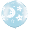 "30"" Light Blue Baby Moon & Stars Latex x 2 product link"