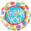 "18"" Thank You Patterned Dots overview"