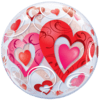 "22"" Red Hearts Bubble Balloon product link"