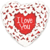 """18"""" I Love You Hearts Balloon overview"""