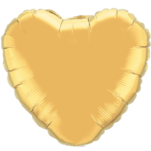 "18"" Metallic Gold foil Heart Balloon"