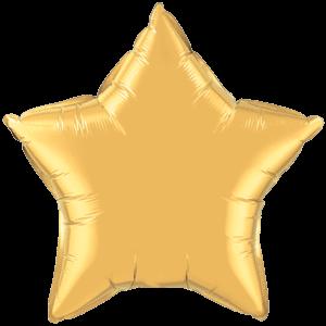 "20"" Metallic Gold foil Star Balloon"