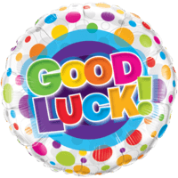 "18"" Good Luck Polka Dot Balloon"