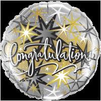 "18"" Sparkly Congratulations Foil"
