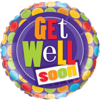 "18"" Colourful Dots Get Well Soon Balloon"