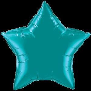 """20"""" Teal foil Star Balloon"""