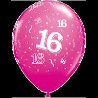 "11"" 16th Wild Berry Latex x 25"