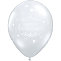 "11"" Diamond Clear Anniversary x 25"
