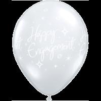 "11"" Diamond Clear Engagement x 25"
