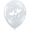 "11"" Diamond Clear Love Doves Latex Balloons x product link"