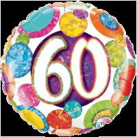 "18"" Dots & Glitz 60th Balloon"