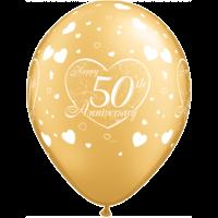 "11"" 50th Anniversary Gold x 25"