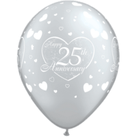 "11"" 25th Anniversary Hearts x 25"