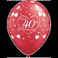"11"" Ruby Red 40th Anniversary x 25"