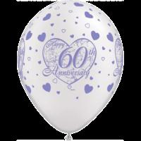 """11"""" White 60th Anniversary x 25"""