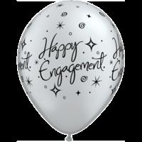 """11"""" Engagement Sparkles Black & Silver x 25"""