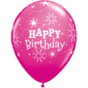 """11"""" Birthday Sparkle Pink & Wild Berry Latex  product link"""