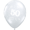 50th Birthday Latex Balloons overview