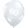 60th Birthday Latex Balloons overview