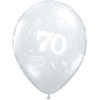 70th Birthday Latex balloons overview